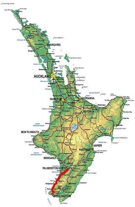Palmerston North to Wellington Route Map